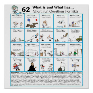 Rhyming What is & What has 62 Poster