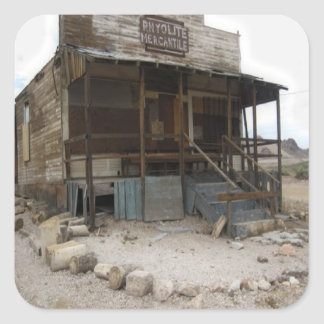 Rhyolite Mercantile Building Square Sticker