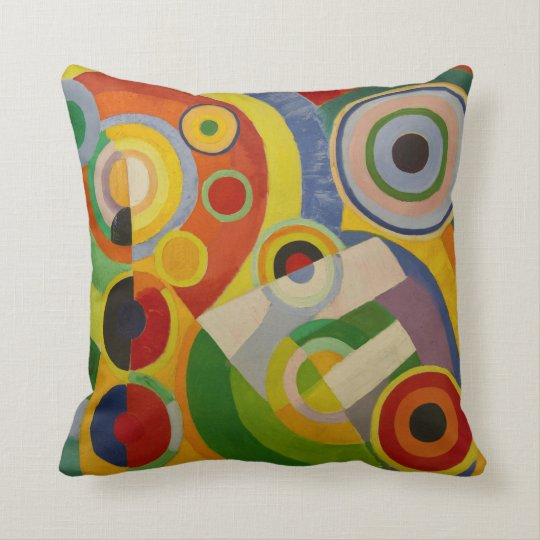 Rhythm Joie de vivre by Robert Delaunay 1930 Throw Pillow