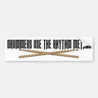 Rhythm Method Drummer Funny Bumper Sticker