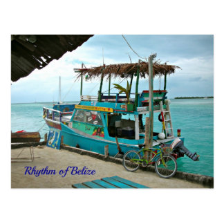 Rhythm of Belize Rasta Boat Postcard