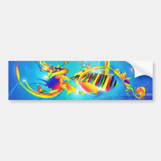 RHYTHM OF LIFE ABSTRACT BUMPER STICKER