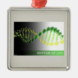 Rhythm of Life Silver-Colored Square Ornament