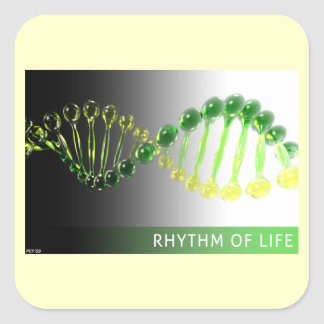 Rhythm of Life Square Sticker