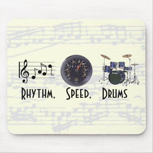 Rhythm, Speed, Drums Mousepad