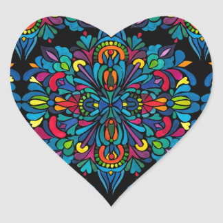 Rhythm, tropical heart sticker