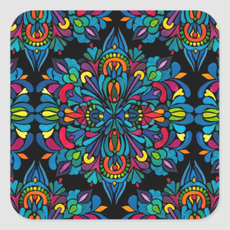 Rhythm, tropical square sticker
