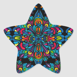 Rhythm, tropical star sticker