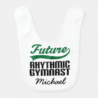 Rhythmic Gymnast Player Personalized Baby Bib