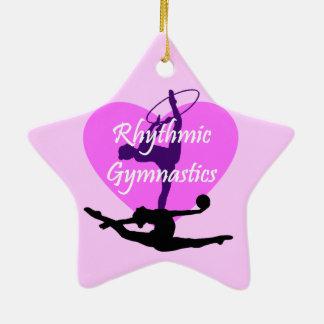 Rhythmic Gymnastics Ceramic Star Ornament