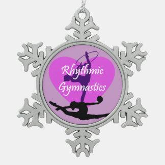 Rhythmic Gymnastics Pewter Snowflake Ornament