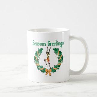 Rhythmic Gymnastics Seasons Greetings Coffee Mug
