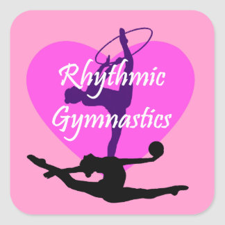 Rhythmic Gymnastics Square Sticker