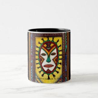 Rhythms Behind the Mask Two-Tone Coffee Mug