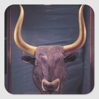 Rhyton in the shape of a bull's head, square sticker