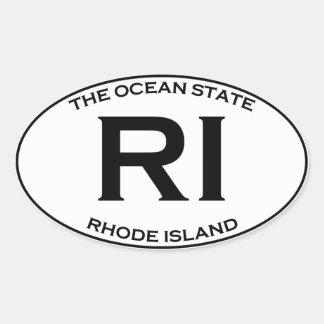RI - Rhode Island Oval Sticker