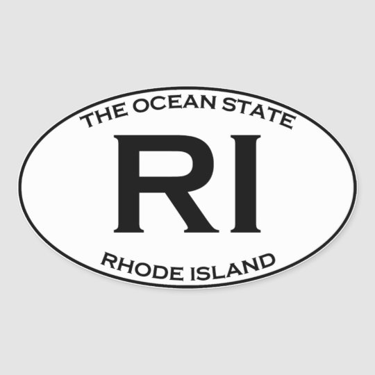 RI - Rhode Island Oval Sticker