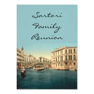Rialto Bridge and Grand Canal, Venice, Italy Card