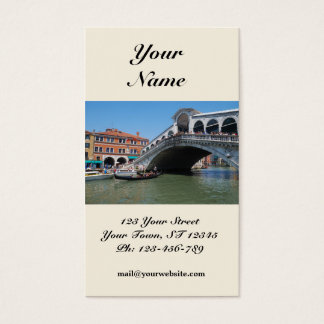 Rialto Bridge Business Card