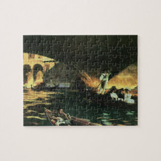 Rialto Bridge, Grand Canal by Sargent, Vintage Art Jigsaw Puzzle