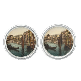 Rialto Bridge I, Venice, Italy Cufflinks