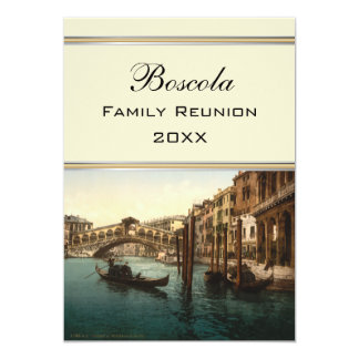 Rialto Bridge I, Venice, Italy Family Reunion Card