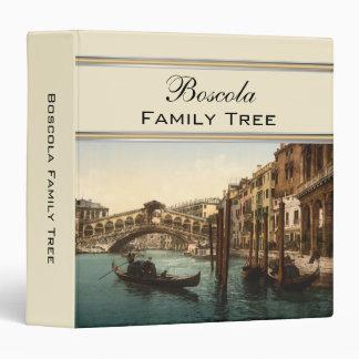 Rialto Bridge I, Venice, Italy Family Tree Binder