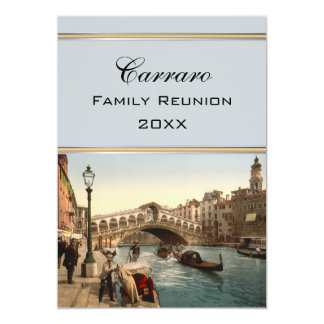 Rialto Bridge II, Venice, Italy Family Reunion Card