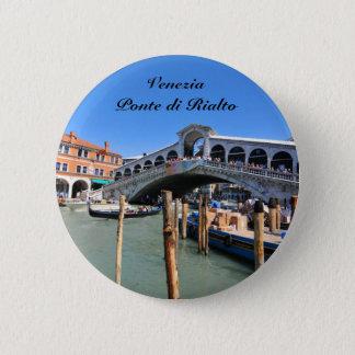 Rialto Bridge in Venice, Italy 2 Inch Round Button