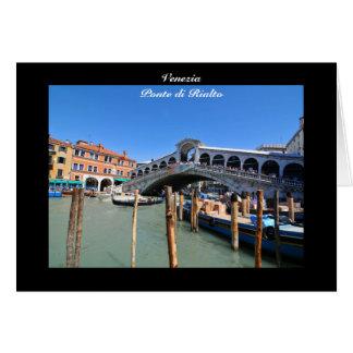 Rialto Bridge in Venice, Italy Card