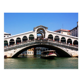 Rialto Bridge in Venice Postcard