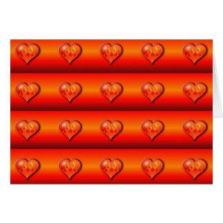 Ribbed Burning Hearts Greeting Card