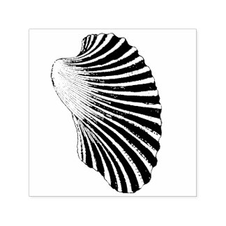 Ribbed Clam Shell Self-inking Stamp