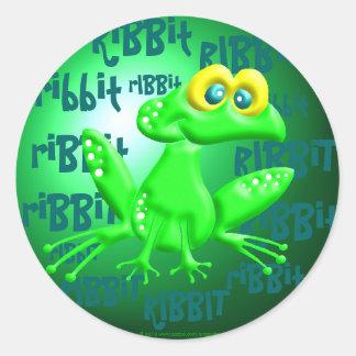 Ribbit! Classic Round Sticker