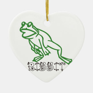 Ribbit Frog Ceramic Ornament