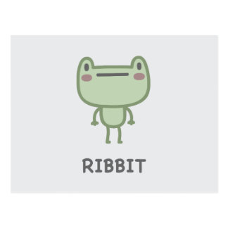 Ribbit Postcard