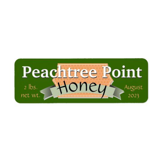 Ribbon and Banner Personalized Honey Jar