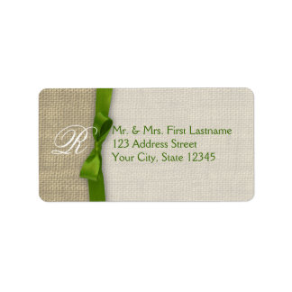 Ribbon and Burlap Green
