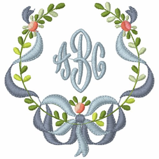 Ribbon and Floral - Bride Monogram