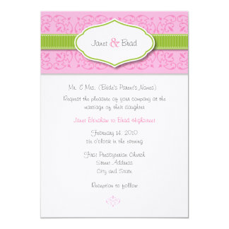 Ribbon and Seal Wedding Invitation