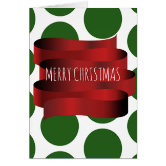 Ribbon and Spots Christmas Card