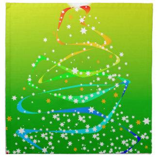 Ribbon and Star Christmas Tree Napkin