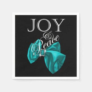 ribbon blue joy peace paper napkin