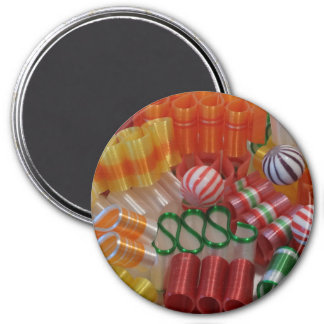 Ribbon Candy Magnet (round)