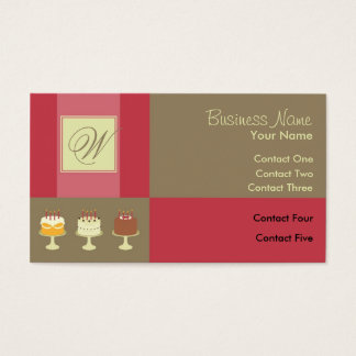 Ribbon Classic Cake Business Cards