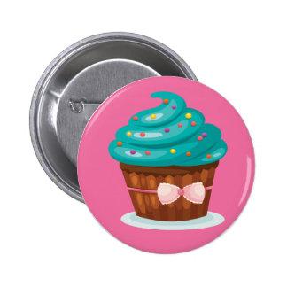 Ribbon Cupcake Button Badge