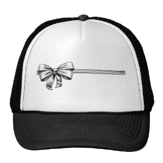 Ribbon Gift Bow Vintage Engraved Etching Woodcut Trucker Hat