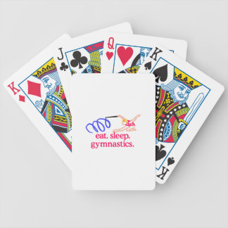 Ribbon Gymnast Bicycle Playing Cards