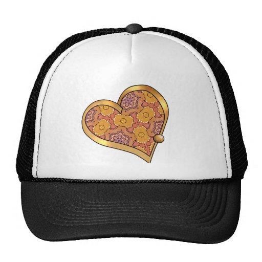 Ribbon Heart-04 Mesh Hats