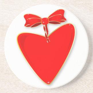 Ribbon Heart Coasters